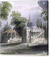 Third Court Of The Serai Bournou, C.1850 Acrylic Print by William Henry Bartlett