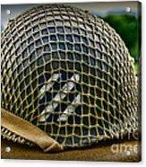 Third Infantry Division Helmet Acrylic Print