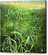 This Is The Day Acrylic Print