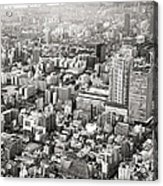 This Is Tokyo In Black And White Acrylic Print