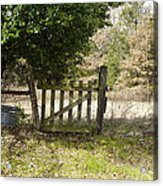 This Old Gate Acrylic Print