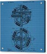 Thomas Edison Blueprint Phonograph Acrylic Print