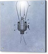 Thomas Edison Electric Lamp Patent Acrylic Print