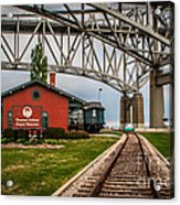 Thomas Edison Museum And Rr Track Acrylic Print