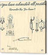 Thomas Edison Quote Acrylic Print