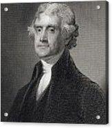 Thomas Jefferson Acrylic Print by Gilbert Stuart
