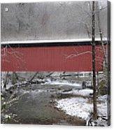 Thomas Mill Covered Bridge Along The Wintery Wissahickon Acrylic Print