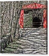 Thomas Mill Covered Bridge Acrylic Print