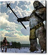 Thor And The Frost Giant Acrylic Print