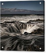 Thor's Well Or Cooks Chasm Acrylic Print