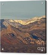 Those Beautiful Snow Cap Mountains Of Nv Acrylic Print