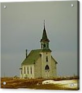 Those Old Hymns On A Snowy Day Acrylic Print