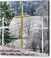 Though Your Sins Are Like Scarlet - They Shall Be White As Snow - From Isaiah 1.18 Acrylic Print by Michael Mazaika