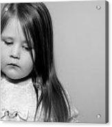 Thoughtful Little Girl Acrylic Print by Stephanie Grooms