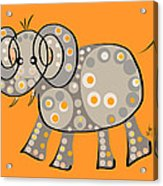Thoughts And Colors Series Elephant Acrylic Print
