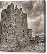 Threave Castle In Grey Acrylic Print
