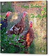 Three Amigos Happy Birthday Husband Acrylic Print