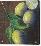 Three And A Half Lemons Acrylic Print