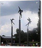 Three Angels At Missouri Botanical Garden Acrylic Print