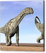 Three Argentinosaurus Dinosaurs Acrylic Print by Elena Duvernay