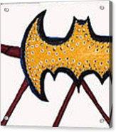 Three Bat Signals Acrylic Print