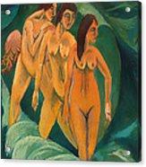 Three Bathers Acrylic Print