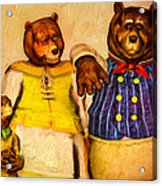 Three Bears Family Portrait Acrylic Print by Bob Orsillo