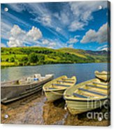 Three Boats Acrylic Print by Adrian Evans