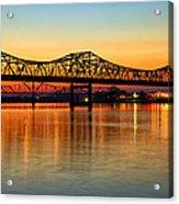 Three Bridge Sunset Acrylic Print