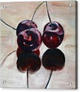 Three Cherries Acrylic Print