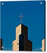 Three Crosses Of Livingway Church  Acrylic Print