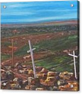 Three Crosses Of Tome Hill Acrylic Print by Judy Lybrand