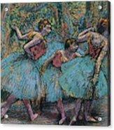 Three Dancers.blue Tutus Red Bodices Acrylic Print