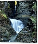 Three Falls In Watkins Glen Acrylic Print