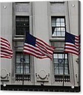 Three Flags Together On 5th Avenue Acrylic Print