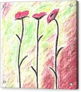 Three Flowers Acrylic Print
