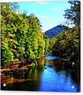 Three Forks Williams River Early Fall Acrylic Print by Thomas R Fletcher
