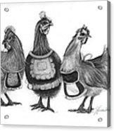 Three French Hens Acrylic Print by J Ferwerda