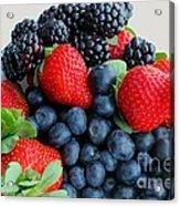 Three Fruit 2 - Strawberries - Blueberries - Blackberries Acrylic Print