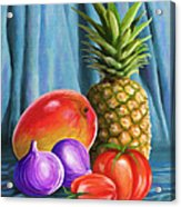 Three Fruits And A Vegetable Acrylic Print