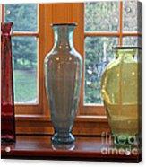 Three Glass Vases In A Window Acrylic Print