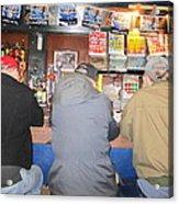 Three Guys In A Bar Acrylic Print