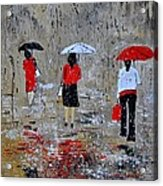 Three In The Rain Acrylic Print