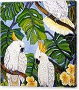 Three Is A Crowd Hand Embroidery Acrylic Print