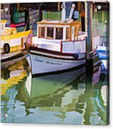 Three Little Boats Acrylic Print