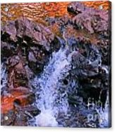 Three Little Forks In The Waterfall Acrylic Print
