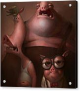 Three Little Pigs Acrylic Print