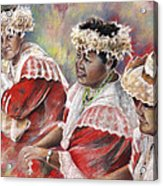 Three Mamas From Tahiti Acrylic Print