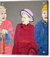 Three Mongolians Acrylic Print