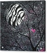 Three Moons Series - Zebra Moon Acrylic Print by Oddball Art Co by Lizzy Love